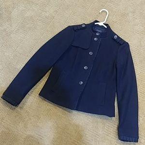 GAP black military style jacket, size 6